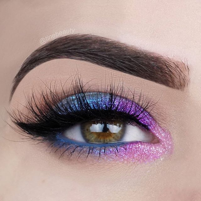 💙💜💖 Products used: EYES @sigmabeauty Nightlife by Camila Coelho and Smoke Screen Palette (crease) @colourpopcosmetics Super Shock Pressed Pigments in Too Shy and Slave2pink (lid colors) and Alchemy in the inner corner (it blended a little bit with Slave2pink) @sigmabeauty Eyeliner Pencil in Indigobird (lashline) and Line Ace in Legend @luxylash lashes in Homegirl  BROWS @anastasiabeverlyhills Dipbrow Pomade in Dark Brown