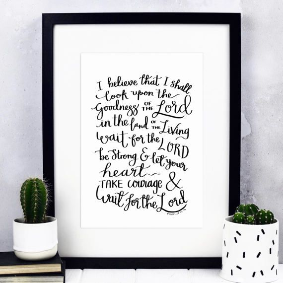 Be Strong & Take Courage Print  Christian Gifts