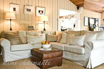 My Sweet Savannah: ~McCreamy~  table behind sectional with lamps?