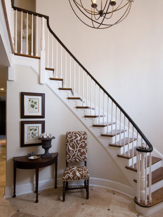Lighting Basement Washroom Stairs: Spaces Curved Stairs Design, Pictures, Remodel, Decor And