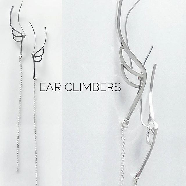 "Wings ear climbers!!! New Rich Drop ""Heavenly"" collection pair!!! #jewelry#handmade#sterling#silver#fashion#elegant#minimal#classy#wings#jewelryphoto#beautiful#everyday#richdrop#greekdesigners#mydesign#contemporary#collection#heavenly# #"