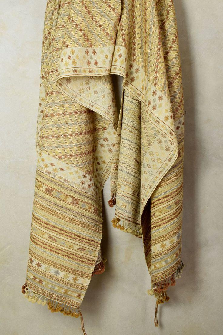 Fine Weave Golden Yellow Shawl