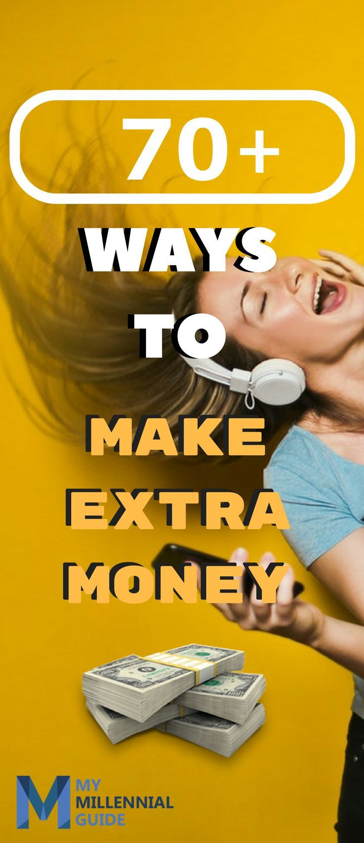 70+ Ways To Make Extra Money Today. Most of these methods you can do from the convenience of your own home! This is a pretty exhaustive list of side hustles, so enjoy!