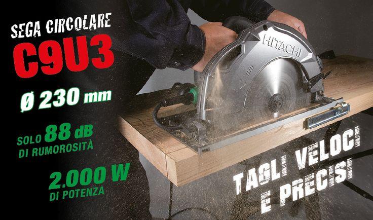Vi presentiamo la nuova sega circolare C9U3 con lama Ø 230 mm. Leggera e poco rumorosa, è dotata di elevata potenza 2.000 W che gli permette tagli profondi in svariati tipi di legno (fino a 86 mm a 90° / fino a 65 mm a 45°). Un efficiente sistema soffiante mantiene costantemente pulita la zona di lavoro assicurando massima precisione di taglio.