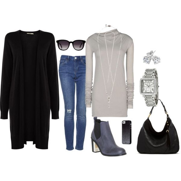 A fashion look from October 2014 featuring Oasis cardigans, Rick Owens Lilies t-shirts and Topshop jeans. Browse and shop related looks.