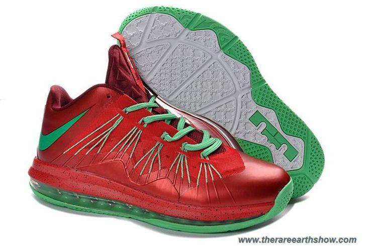 Nike Air Max Lebron 10 Low Black Total Crimson 579765 001 Basketball Shoes    Kobe IX Shoes   Pinterest   Nike air max, Air max and Nike air
