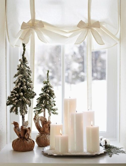 64 best christmas candle decorating images on pinterest candle christmas simple and sweet decor near a window candles would look awesome on an antique silver tray with faux snow and greenery home me fandeluxe Document