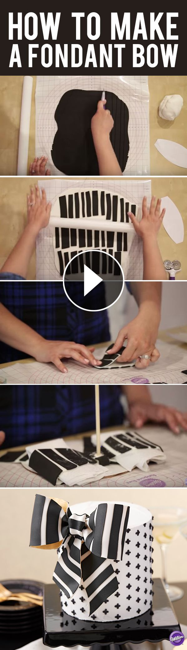 How to make fondant feathers youtube - How To Make A Fondant Bow Learn How To Make A Classic Black And White