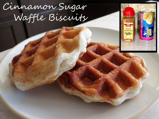 cinnamon sugar waffle biscuits fast cheap easy
