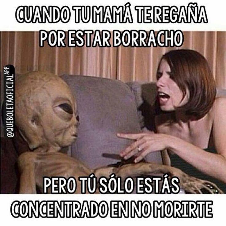 Cuando Tu Mama Te Regana Por Estar Borracho Y Tu Solo Intentas En No Morirte Memes Aliens Funny Funny Memes