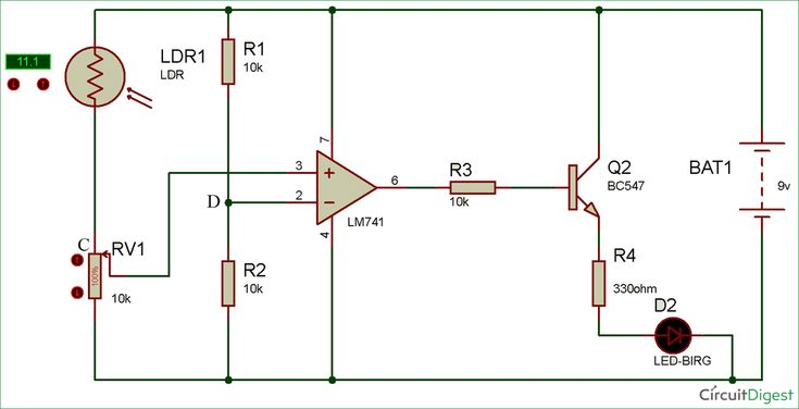Build A Solar Garden Light Circuit Diagram Electronic Circuits