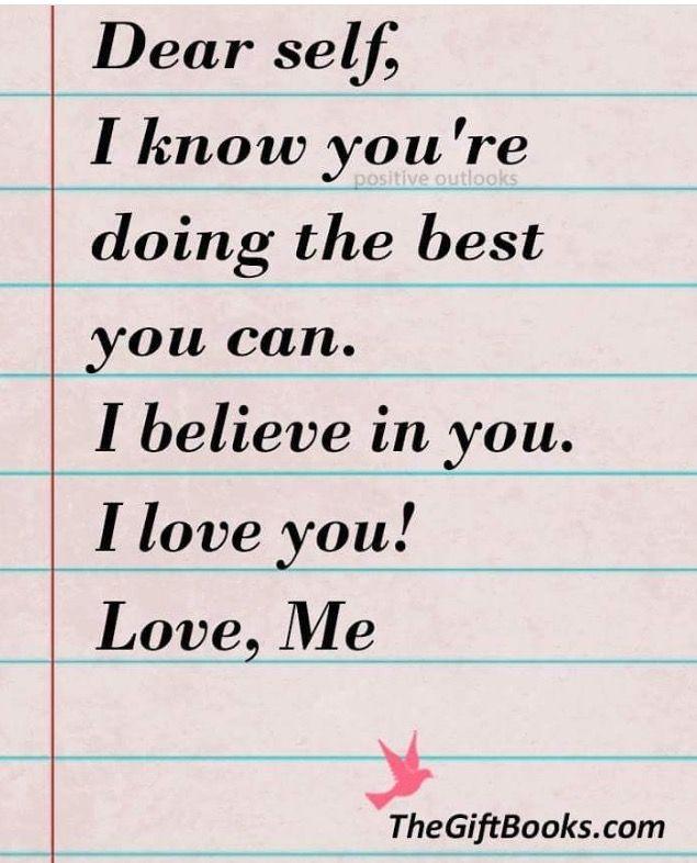Dear Self !!