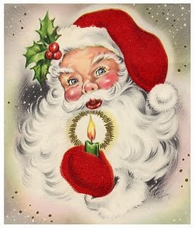 This was my childhood image of Santa.  What good memories this image brings back to me.Vintage Christmas Cards, Candles Lights, Vintage Christmas Lights, Image Vintage, Christmas Santa, Vintage Santa, Christmas Image, Childhood Image, Candles Santa