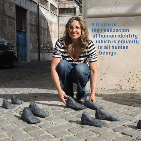 "Anna Maria Angelucci, a visual artist from Rome, Italy: ""I care for the realization of human identity which is equality for all human beings""."