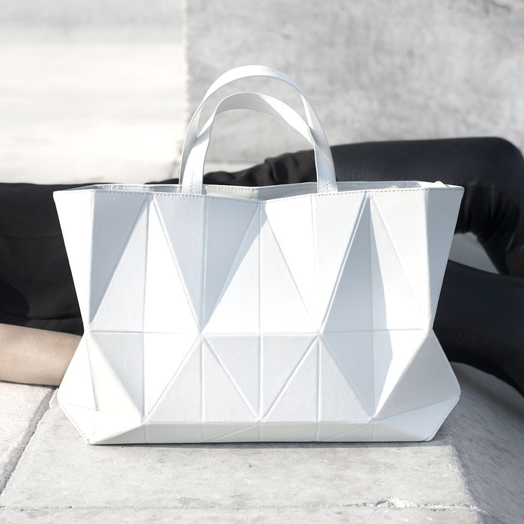 Origami Handbag - graphic minimal bag, geometric fashion design // FINELL