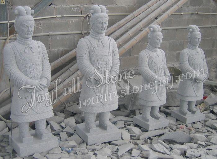Ordinaire Hand Carved Granite Warrior Statues. Stone StatuesBuddha StatuesStone  LanternGarden ...