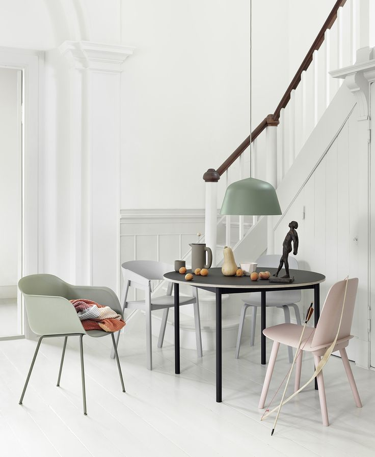 Inspiration - Playful color combination - Muuto. Stunning dining space in pastel colours. Scandinavian furniture design with a difference. New Nordic.