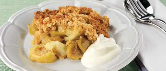 Feijoa and Apple Crumble recipe from Food in a Minute