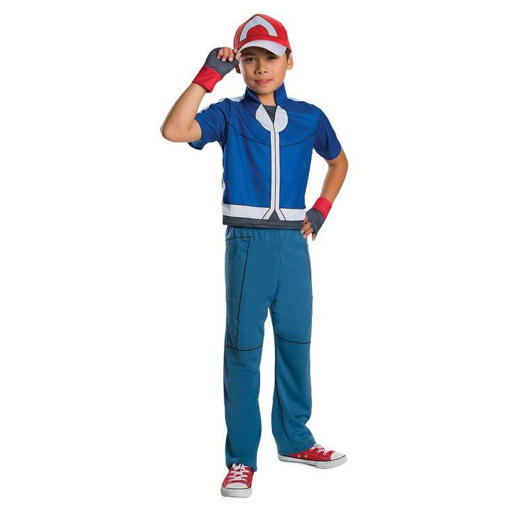 Pokemon Ash Ketchum Child Costume - M, Boy's, Size: M(7-8), Multi-Colored