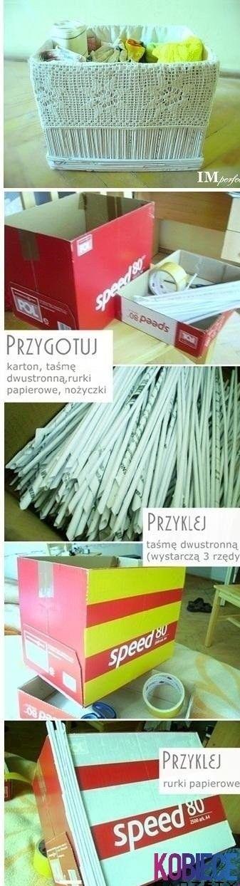 kosz z wikliny papierowej - tutorial