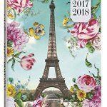 Exacompta Les Cakes de Bertrand Agenda Scolaire Journalier Forum août 2017 à juillet 2018 12 x 17 cm visuel Tour Eiffel: Agenda journalier…