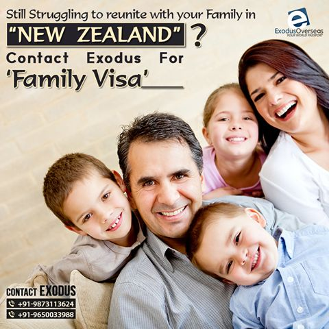 Are you missing your family and want them to live with you in New Zealand? Contact Mr. Pankaj Malhotra (Ex-Visa Officer) +91-9650033988 and Ms. Rajni Garg (Licensed immigration advisor) +91-9873113624. #ExodusOverseas #licensed #visa #expert #immigration #advisor #consultant #NewZealand