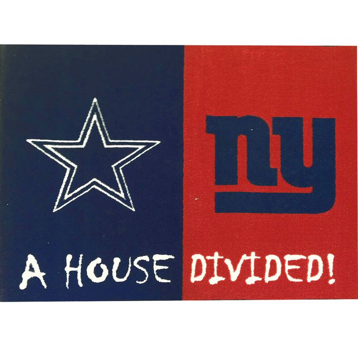 NFL Cowboys-Giants House Divided Accent Rug: medleyproducts.com