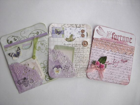 Junk Journal and Planner Pockets by CraftRain on Etsy