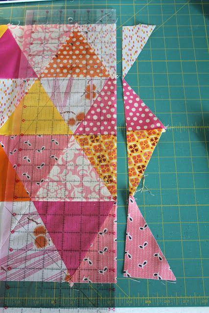 Best 25+ Triangle quilt tutorials ideas on Pinterest Patchwork quilt patterns, Easy quilt ...