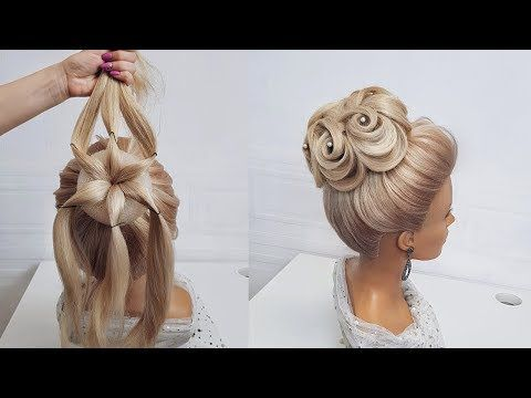 Beautiful hairstyles step by step.Wedding hairstyl…