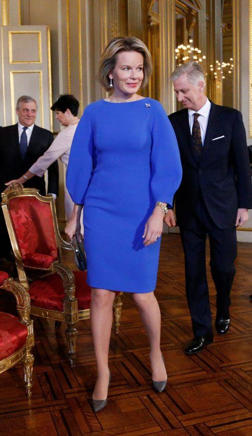Matilde de Bélgica Acto: Recepción de Año Nuevo en el Palacio Real, Bruselas (Bélgica).