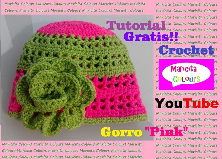 Crochet Tutorial Gorro Bebe Pink (Parte 1) - Baby Beanie Hat Subtitles E...