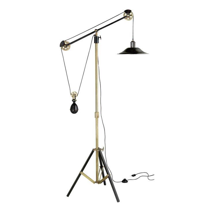 Lampadaire orientable à trépied en métal effet bronze H 178 cm JULIUS | Maisons du Monde