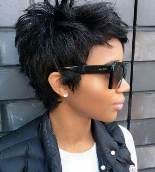 Graduated Short Choppy Haircuts 2017 For Thick Hair Pixie Haircuts