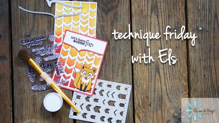 Technique Friday with Els - Chevron Background