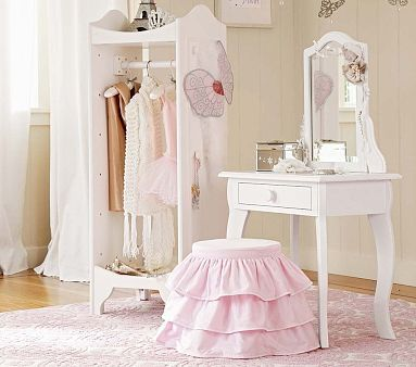 Claire Vanity and Stool #PotteryBarnKids.. love this for Emma since she is into dress up :) have to get it