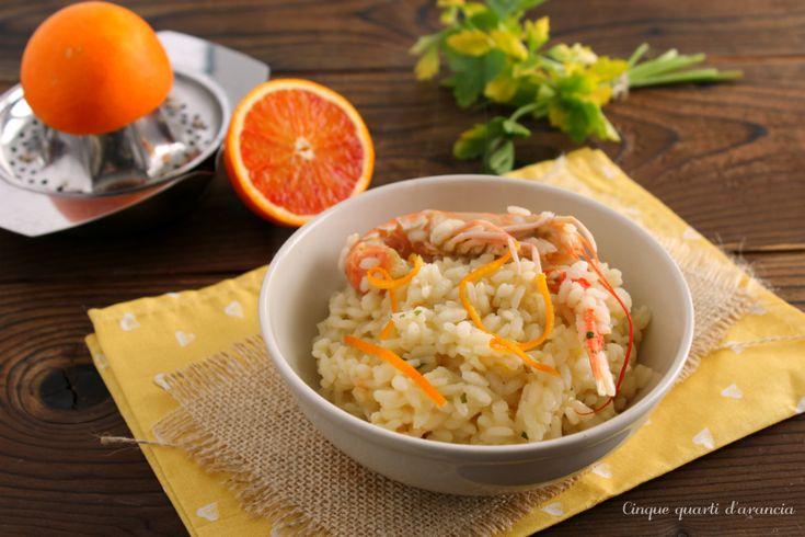 Il risotto scampi e aranceè un primo piatto di pesce profumato e particolare, molto particolare e davvero semplice da preparare,