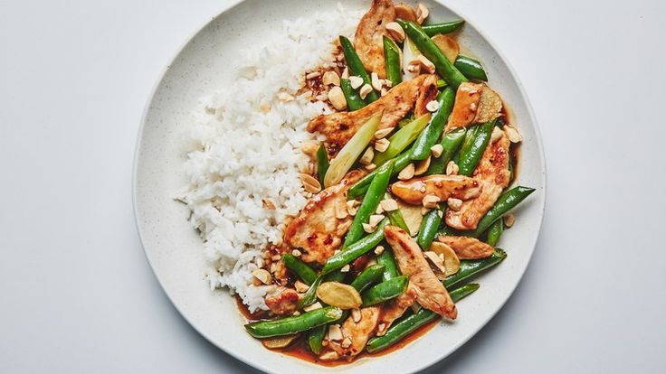 """Chicken and Green Bean Stir-Fry Recipe 