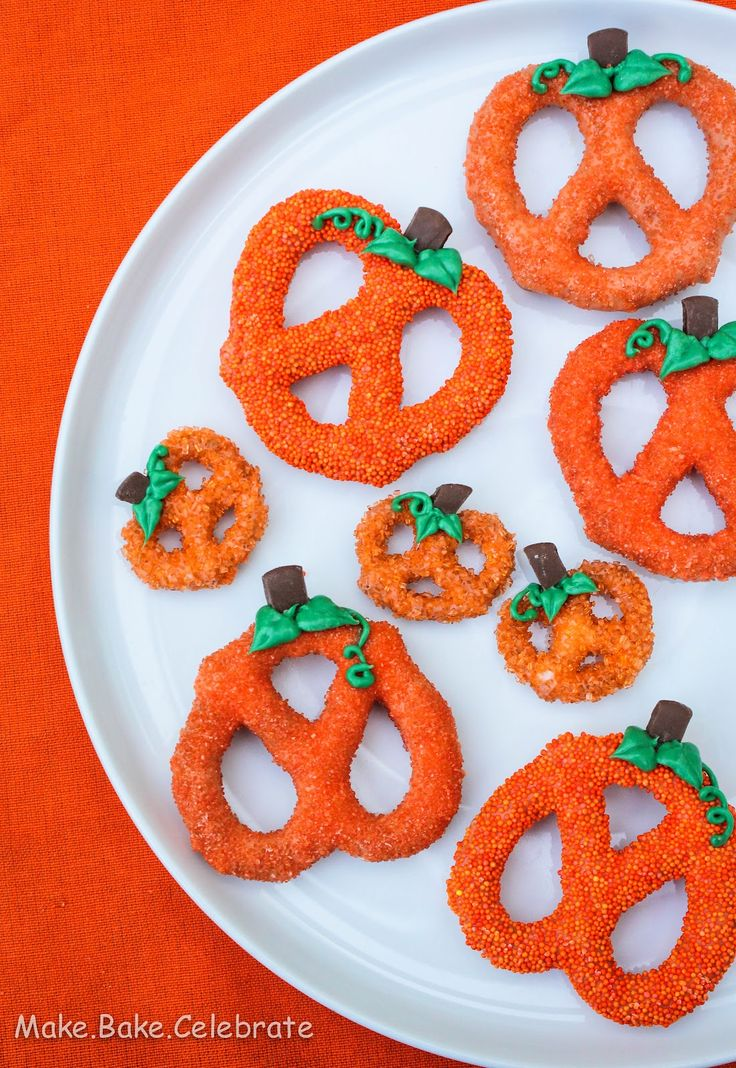chocolate covered pumpkin pretzels.