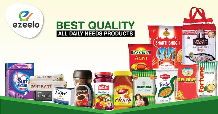 Buy all your Kirana (Grocery) with free HomeDelivery from