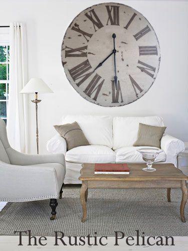 Huge Clock 42 Rustic Wall Clock Wooden Wall Clock by RusticPelican