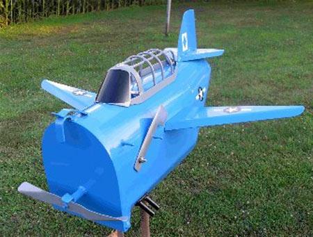 Metal Dive Bomber Mailbox
