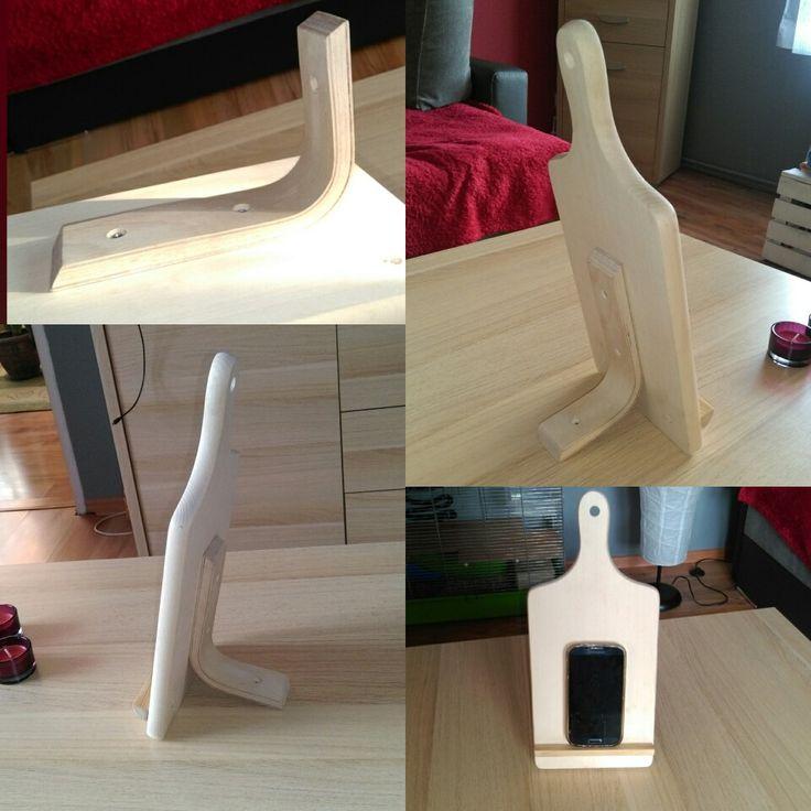 homemade kitchen stand for smartphone/tablet kuchenny stojak na smartphone/tablet