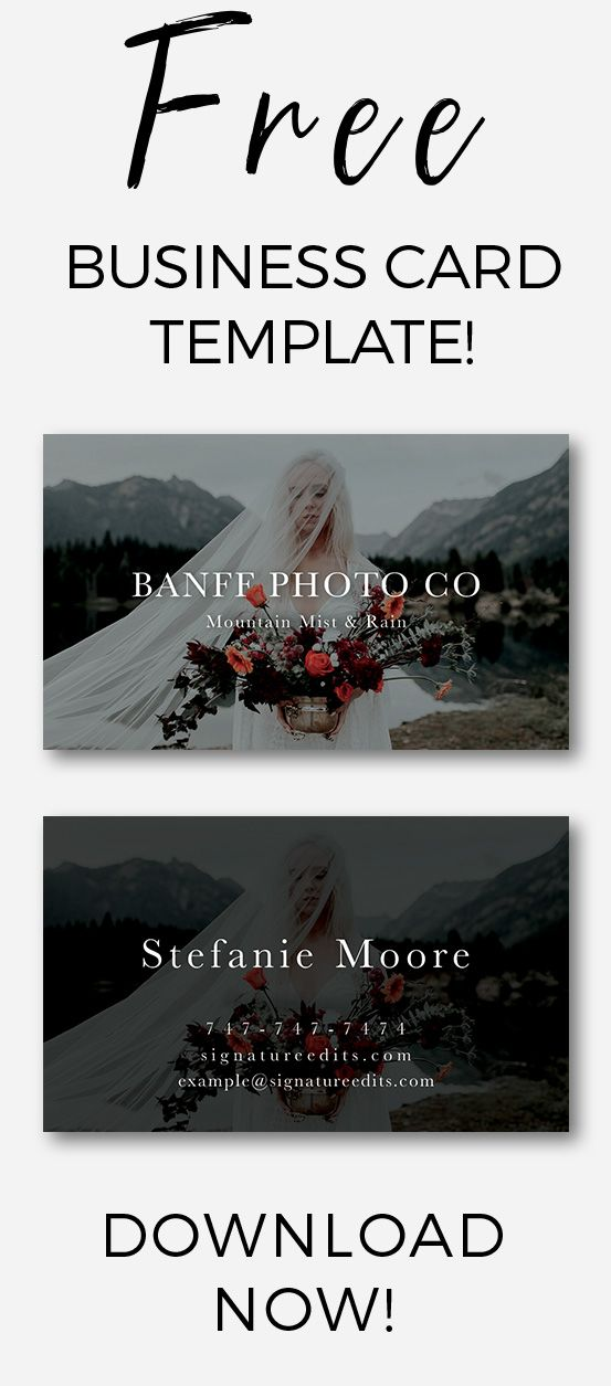 Free Business Card Templates For Creatives Now Whether You Re A Photographer Or Creative Owner Your Branding Will Thank
