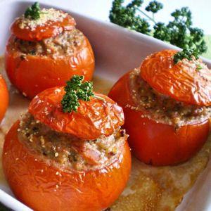 C: Tomates farcies à la française. I will make this dish again and again. Très simple!