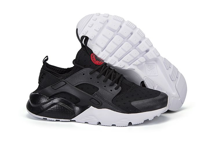 Cheap Nike Air Huarache Running Shoes Black White Red