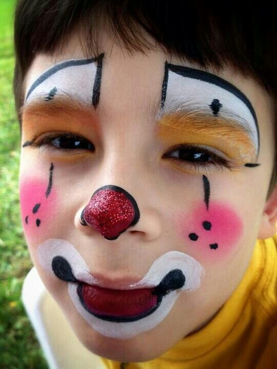 Clown face painting