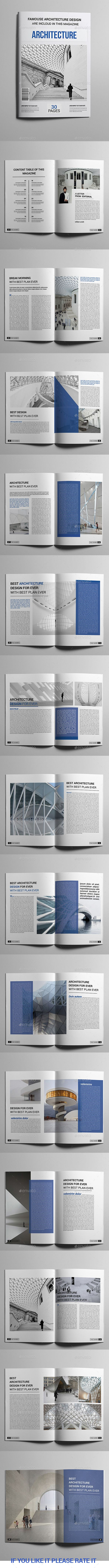 Architecture Magazine Template #design Download: http://graphicriver.net/item/architecture-magazine-design-/13642789?ref=ksioks