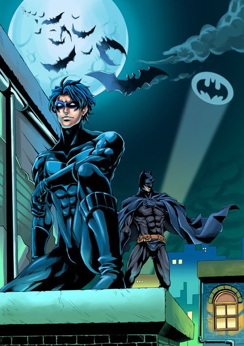 Nightwing & Batman in Gotham