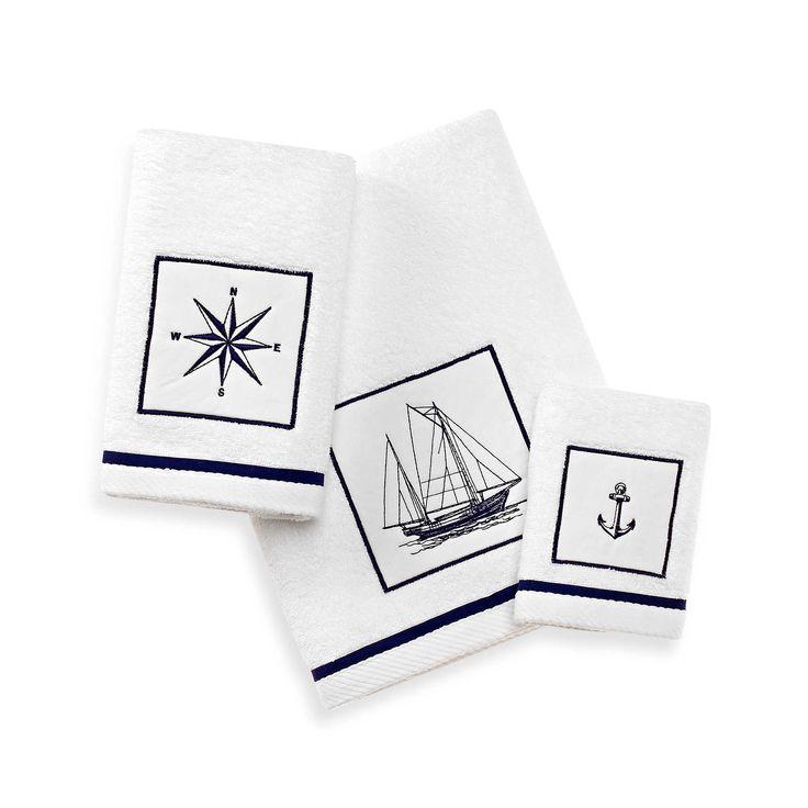 Nautical Guest Towels: Cape Island Bath Towel Collection